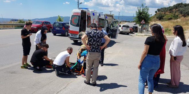 Gemlik'te Motor Kazası Ucuz Atlatıldı