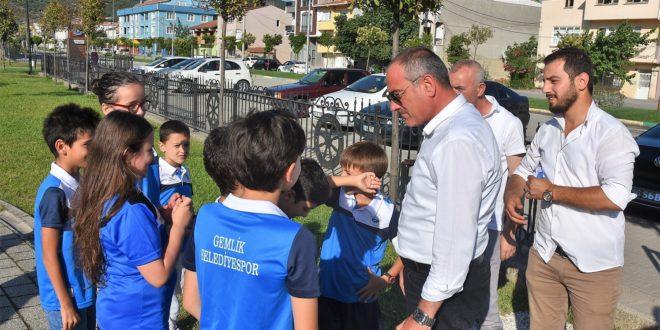 Başkan Sertaslan genç sporcular ile bir araya geldi