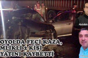 Otoyolda Feci Kaza, Gemlikli 2 Kişi Hayatını Kaybetti