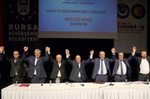 Büyükşehir'de toplu sözleşme sevinci