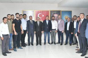 Çavuşoğlu ve Salman İlçe Teşkilatında Toplantıya Katıldı