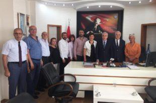 Gemlik Kent Konseyi Kaymakam Yaşar Dönmez'i ziyaret etti