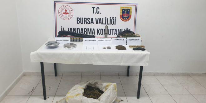 Kumla'da uyuşturucu baskını