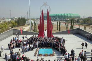 Şehitler diyarına görkemli anıt