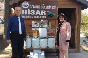 Zeytinyağlı sabunlar mahalle sakinlerine teslim edildi
