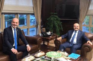Işık, Fatih Metin ile yatırımları değerlendirdi