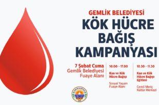 Gemlik Belediyesi'nden kök hücre bağışına davet