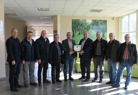 Gemlik Toptancılar Sitesi Zeytin Hali'nden Borsa'ya Teşekkür Ziyareti