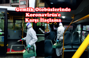 Gemlik Otobüslerinde Koronavirüs'e Karşı İlaçlama
