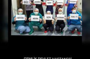 Gemlik'te görevli sağlıkçılardan vatandaşlara mesaj