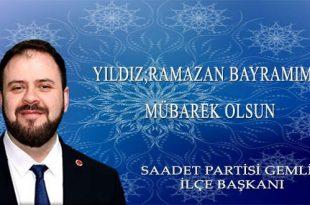 Yıldız; Ramazan Bayramımız Mübarek Olsun