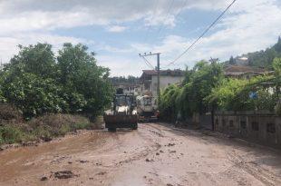 Muratoba'da Yağışlar Etkili Oldu