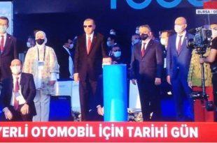 Türkiye için tarihi gün, TOGG'un temeli Gemlik'te atıldı