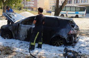 Kumla'da Araç Yangını
