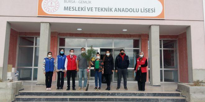 Gemlik Gençlik Merkezinden Okullara Çam fidanı Hediyesi
