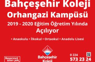 Bahçeşehir Koleji Orhangazi Kampüsü 2019-2020 Eğitim Öğretim Yılında Açılıyor