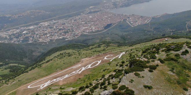 Atatürk'ün dev imzası Gemlik'in zirvesinde