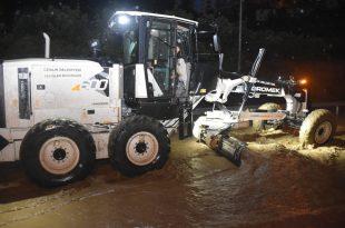Aşırı yağışta belediye teyakkuza geçti