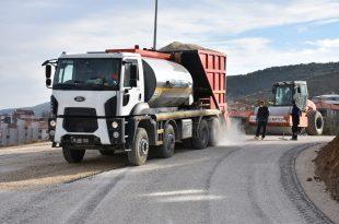 Yeni Adliye Sarayı yolu soğuk asfalt kaplandı