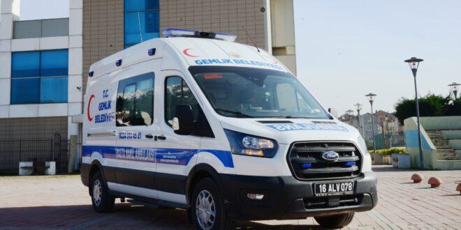 Gemlik Belediyesi Hasta Nakil Ambulansı hizmete başlıyor (2)