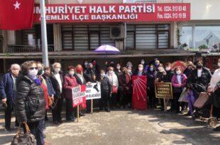 CHP Kadın kollarından İstanbul Sözleşmesi Tepkisi