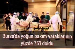 Bursa'da Yoğun Bakımlar Alarm Veriyor