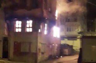 Gemlik'te metruk bina yangını
