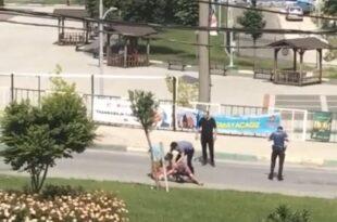Gemlik'te polise saldıran şüpheli kıskıvrak yakalandı