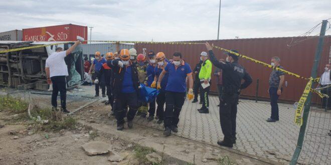 İşçi servisi kaza yaptı, 1 ölü 20 yaralı