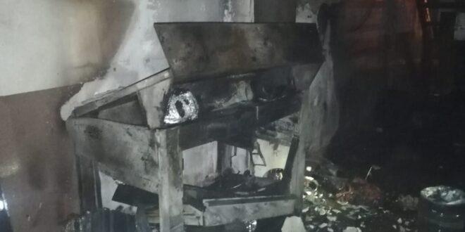 Lazer makinesi patlaması korku dolu anlar yaşattı