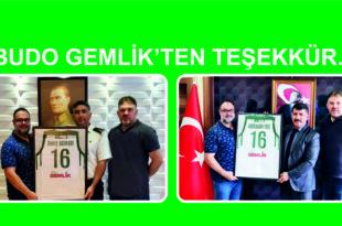 BUDO GEMLİK'TEN TEŞEKKÜR..