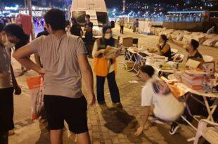 Bursa AFAD ve MAG ekipleri Gemlik iskele meydanında
