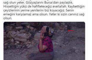 Alinur Aktaş'tan Anlamlı paylaşım