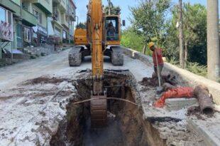 Gemlik Hisar'da su taşkınları son buluyor