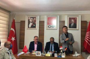 Milletvekili Orhan Sarıbal Gemlik CHP İlçe başkanlığında basın açıklamasında bulundu