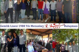 Gemlik Lisesi 88 mezunlarından 33 .yıl buluşması